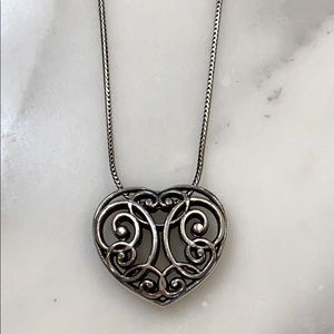 NWOT Brighton heart necklace